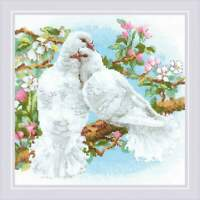 Counted Cross Stitch Kit RIOLIS - White Doves