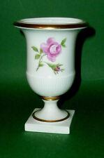 Antique Fürstenberg Vase coupe Rose Rouge Amphore Petit TOP