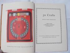 """VINTAGE 1950's """" 30 artigianato"""" Crochet Maglieria pizzo cucitura progetto Instruction book"""