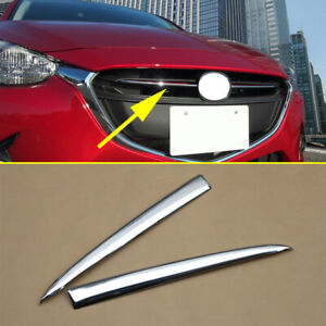 Chrome Cover For Mazda 2 Demio DJ DL 2015-2018 Front Central Grille Grill Trim