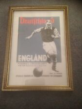 FRAMED CANVAS PRINT OF 1938 - ENGLAND V WEST GERMANY PROGRAMME - INFAMOUS NAZI