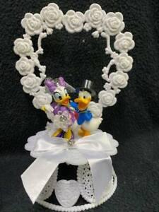 Donald Duck & Dasiy Duck in PURPLE Disney Wedding Cake Topper Groom Top  NEW