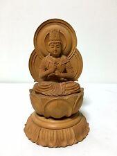 Japanese Japan, wooden Buddha statue Shingon.Shu Dainichi Nyorai  18.5cm
