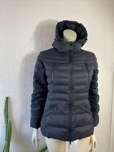 United Colours Of Benetton Down Feather Puffer Jacket Black Ladies Medium UK 14
