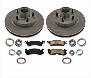 93-95 G10 20 Chevy GMC Van W/ Vacuum Booster Brakes ABS Front Rotors & Pads 9pc