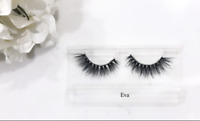 NEW 3D Mink False Eyelashes Whispy Cross Long Huda Thick Long Lashes EVA