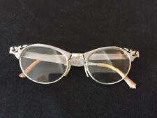 ART CRAFT Mid Century Morden  Aluminum Etched Floral Design Cat Eye Glasses,