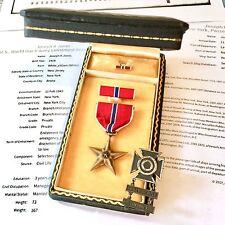 NAMED WWII US ARMY BRONZE STAR MEDAL JOSEPH K. JONES RIBBON BAR LAPEL PIN CASE