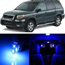 18 x Ultra Blue LED Lights Interior Package Kit For Honda PILOT 2006 - 2008
