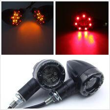 2 X Waterproof Motorcycle Dual Color LED Amber Turn Signal & Red Brake Indicator