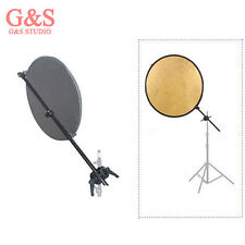 """Reflector bracket arm+31""""  2-in-1 Gold and Silver reflector Photography kit 1st"""