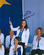 Beatriz Recari signed Lpga 8x10 Solheim Cup photo with Coa