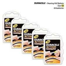 Duracell Yellow Tab Activair Hearing Aid Batteries Size: 10 (20 Pack)
