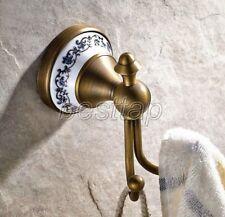Antique Brass Bathroom Accessories Set Bath Hardware Coat Towel Hook sba410