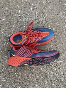 Hoka One One Speedgoat 4 Men's 8.5 2E Wide Fiesta/provincial Blue Trail Running