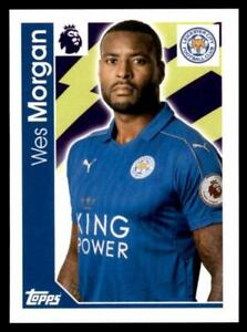 Merlin Premier League 2017 - Leicester City Wes Morgan No.124