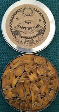 "GOOSE BERRY PATCH ALPHABET SOUP MINI COOKIE CUTTERS CANDY MOLDS 1"" TIN RECIPES"