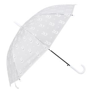 Damen Regen Schirm durchsichtig Hasen BUNNY weiß Stock Automatik Kinder Clayre