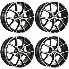 4 x BBS SR Dark Grey / Polished Face Alloy Wheels - 5x108 | 19x8.5 "