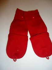 Ladies Fownes Women's Convertible Mittens,Red, O/S