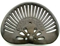 DEFECT- Walter A Wood Cast Iron Tractor Seat Antique Finish FREE US SHIPPING
