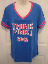 Victoria's Secret Pink Limited Brands Staff Short Sleeve Tee Breast Cancer New