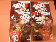 CALCIO AS ROMA *2 DVD 200 VOLTE TOTTI* FRANCESCO TOTTI completi di libretto RARI
