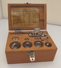 Vintage F&O GPO Cased Scale Gauge with Weights, Dated 1973