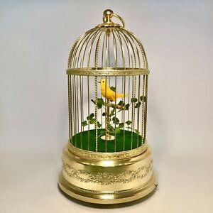 Vintage Franch Singing Bird Cage Automaton Music Box
