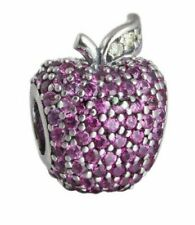 Authentic Pandora Sterling Silver Red Pave Apple Charm 791485CFR #5