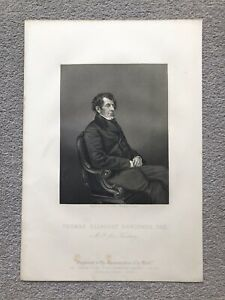 THOMAS SLINGSBY DUNCOMBE FINSBURY HERTFORD STEEL ENGRAVING 1859 Antique Print