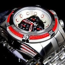Invicta Reserve Bolt Zeus Red Swiss Stainless Steel Chronograph 53mm Watch New