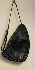 Lavive Healthy back Cross body purse or bag ~ Black Genuine Leather