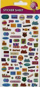 """Purple Peach Peel-Off Sticker Sheet """"LINGO FUNKY""""~Cardmaking~Scrapbook~Decorate"""