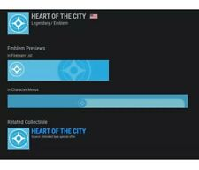Destiny 2 Heart of the City Emblem (CODE IN HAND)