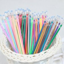 48Pc 0.38mm Colorful Gel Ink Pen Refills Glitter Metallic Neon Pastel Stationery