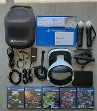 Sony PlayStation VR set + Motion Controllers with camera + 5 game disks + case