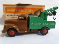 DINKY MECCANO DIECAST TOYS MODEL 25x COMMER BREAKDOWN LORRY DARK BROWN CAB BOXED