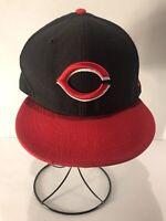 Cincinnati Reds MLB Authentic New Era 59FIFTY Fitted Baseball Cap/Hat 7 3/8