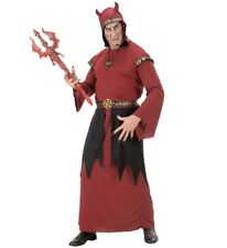 "Mens Red Devil Satan Hooded Robe Halloween Fancy Dress Size ML Upto 44"" Chest"