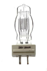 Halogen searchlight lamp 230V 2000W GY16 cap, CP43 CP72