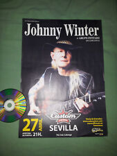 JOHNNY WINTER - CONCERT IN SEVILLE 2013 / RARE A3 SIZE SPANISH POSTER