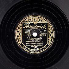 """1940s ANDREWS SISTERS 78 """" SABRE DANCE / HEARTBREAKER """" UK BRUNSWICK 03916 EX-"""