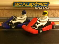 Scalextric Digital Super Go Karts Brand New Twin Pack with Sticker Sheet