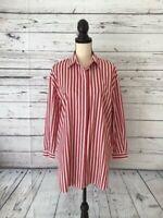 Zara Trafaluc Striped Women's 3/4 Sleeve Casual Dress Shirt Sz Xs