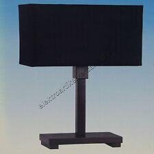 Brilliant Tischleuchte Hanja Holz Textil schwarz E14 max. 40W Leuchte Lampe