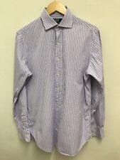 "RALPH LAUREN 'REGENT' Classic Fit Mens Purple White Stripe Shirt 15.5"" Medium"