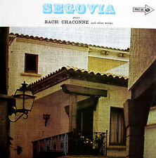 Segovia Plays Bach Chaconne & Other Works EXCELLENT Stereo MUCS 128