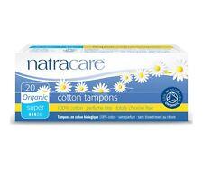Natracare Organic Cotton tampones-Super-Perfume/cloro Libre X 2