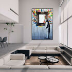 Photo Frame Painting Graffiti Artwork Canvas Wall Art Prints Pictures Home Decor